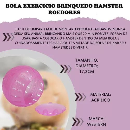 Bola exercicio brinquedo hamster roedores 17cm western