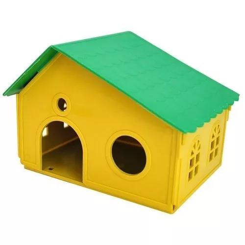 Casinha p/ hamster, gerbil e outros roedores com telhado