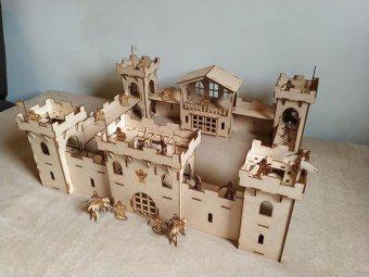 Castelo medieval novo em mdf