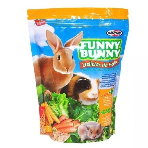 Funny bunny ração roedores coelhos porq india 4 pcte 1,8