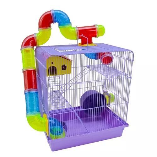 Gaiola super luxo para hamster e roedores 3 andares