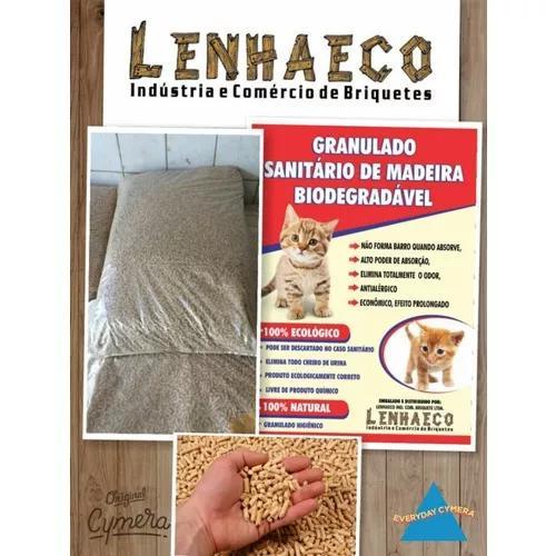 Granulado higiênico para gatos 40kg.