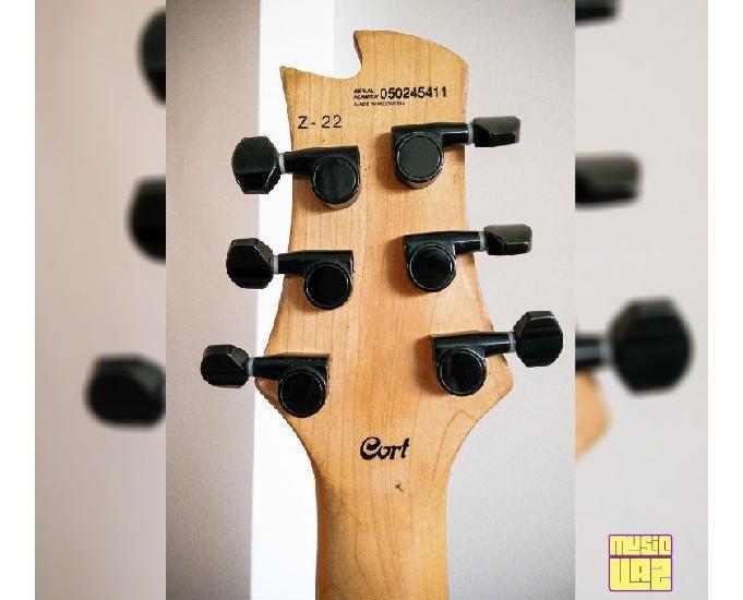 Guitarra Cort Zenox Z-22 Black Profissional Ponte Fixa