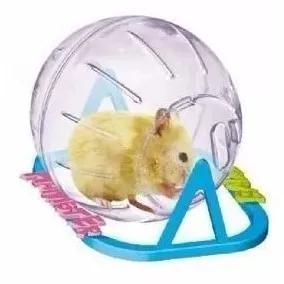 Hamster ball - bola pequena para hamsters com suporte 13 cm