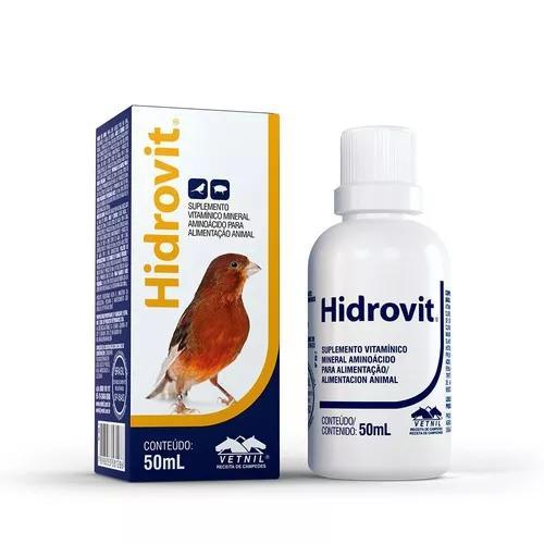 Hidrovit ventil para pássaros roedores - 50ml