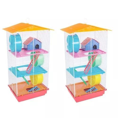 Kit 2 gaiola para hamster topolino sírio chines russo frete