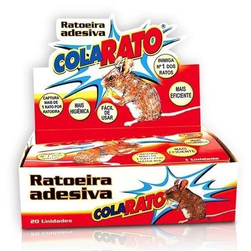 Kit c/ 5 unidade ratoeira adesiva cola rato *frete grátis
