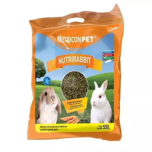 Ração alimento coelhos nutrirabbit 500g nutritiva