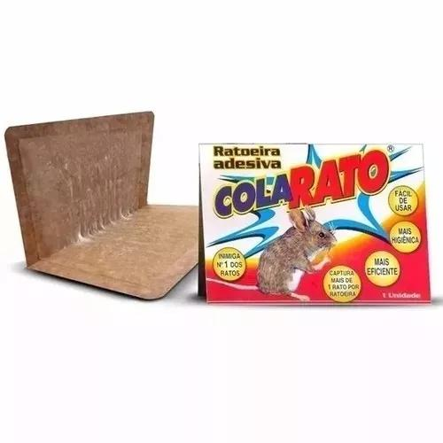 Ratoeira adesiva cola rato fácil de pegar (kit com 5 und)