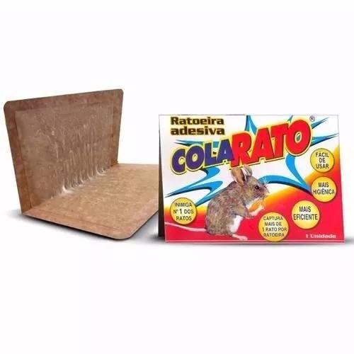Ratoeira adesiva cola visgo pega rato caixa 20 unidade aeio@