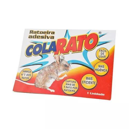 Ratoeira adesiva cola visgo pega rato caixa 5 unidades