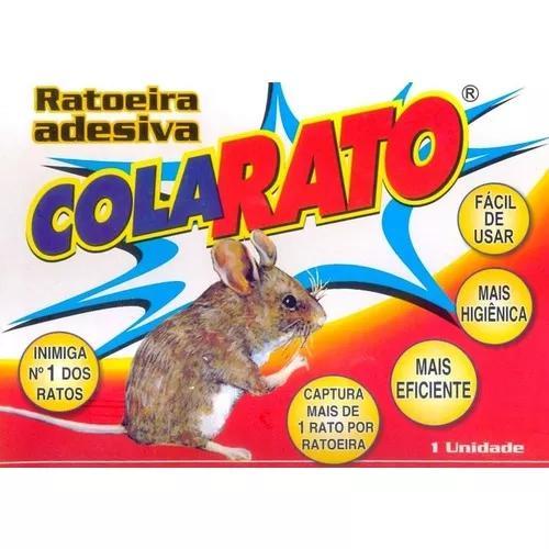 Ratoeira adesiva pega cola rato - caixa 20 unidades