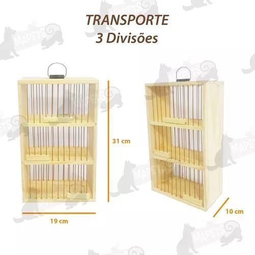 Transporte madeira pinus triplo pássaros peq/ médio porte