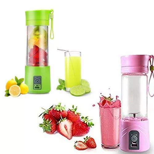 2x mini liquidificador portátil shake carrega juice cup+usb