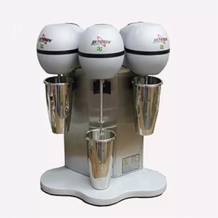 Batedor de milk shake skymsen, copo inox, 3 hastes, bms-3-n