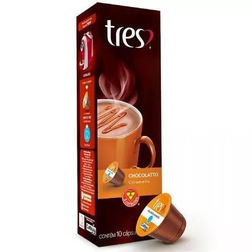 Cápsula de chocolatto caramello três corações, 10