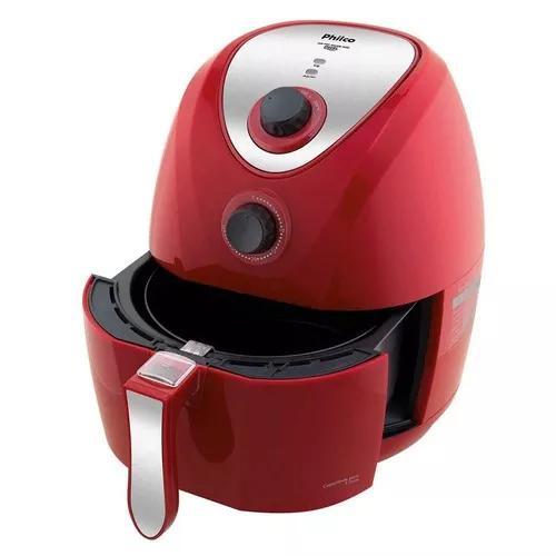 Fritadeira elétrica air fry saúde com ou se vermelho