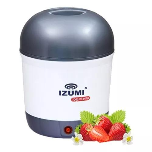 Iogurteira elétrica cinza izumi bivolt 1 litro modelo novo!
