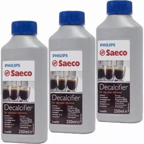 Kit com 03 descalcificante líquido 250ml ca6700 saeco