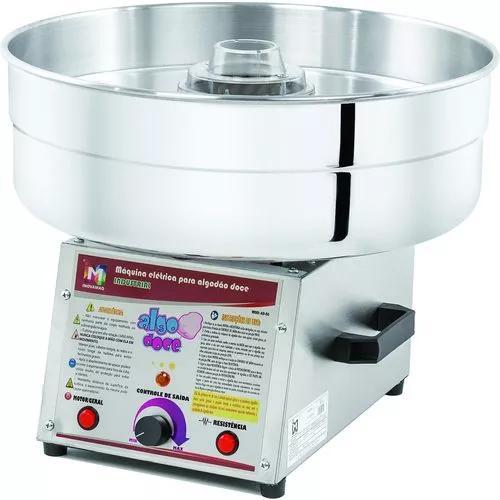 Maq. algodão doce industrial ad-50 cuba 51cm + kit
