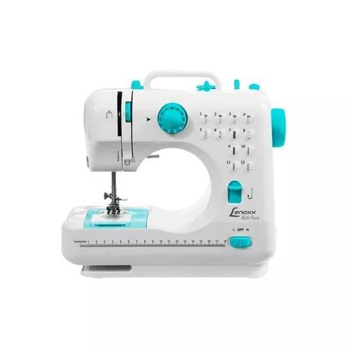 Maquina de costura portatil 12 pontos bivolt lenoxx psm101