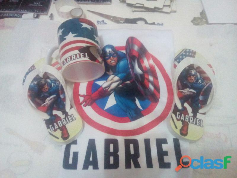Kit personalizado capitão américa