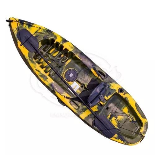 fc80c4457 Caiaque caiaker fishing camuflado com assento  encosto 130kg