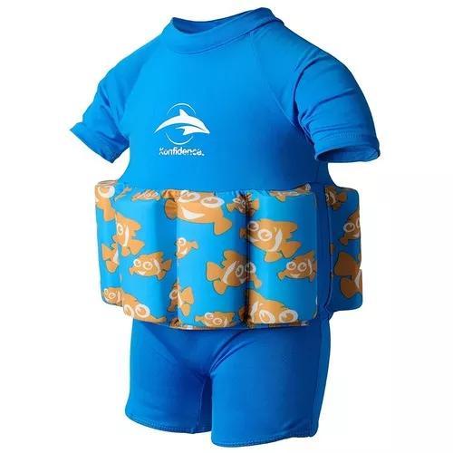 Roupa bóia para natação konfidence bebê criança