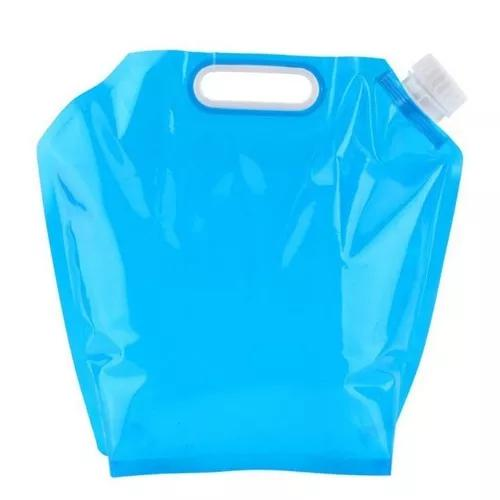 Saco dobrável p água potável (portatil) 10 litros