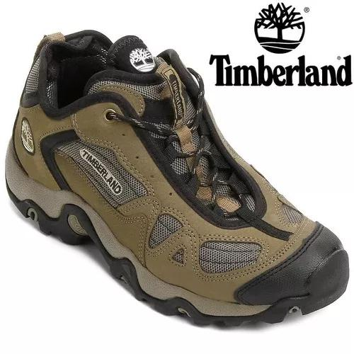 Tenis timberland gorge c2 trail couro natural original +nf