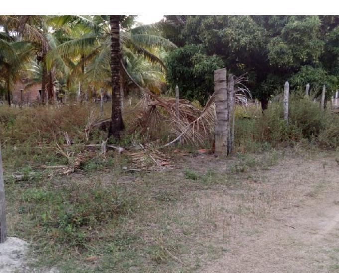 Terreno perto do mar e do rio poxim financiado em 400 r$ por