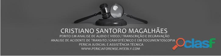 Cristiano santoro perito em analise de áudio, vídeo, voz, dados, transcrição e degravação rj, sp