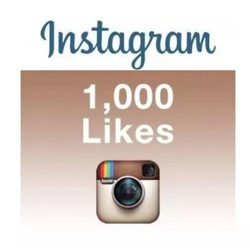 1000 curtidas instagram