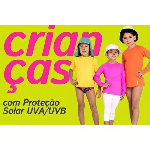 4 roupa criança térmica 4 camisa infantil proteção uv