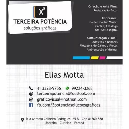 Artes e serviços gráficos, cartão visita, folders e