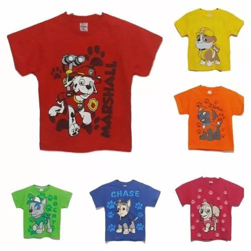 Camiseta Infantil Desenho Patrulha Canina Dia Das Crianças