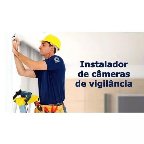 Instalação camera ip cftv (interna e externa)