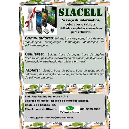 Serviços de informática, celulares e tablets