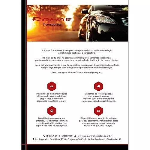 Transporte executivo, veículos e vans
