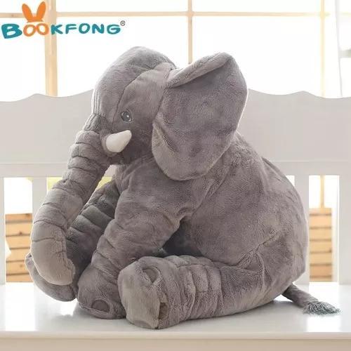Travesseiro almofada de elefante para criança 40 cm.