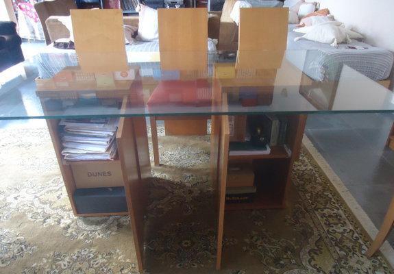 Mesa c cadeiras console c espelho buffet e mesa de centro