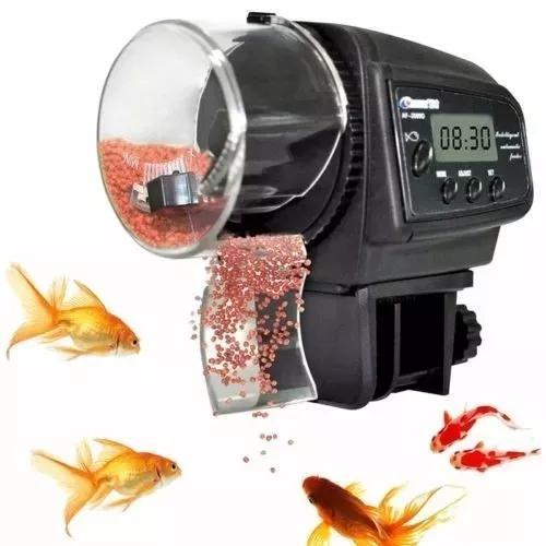 Alimentador de peixe automático para aquário + brinde