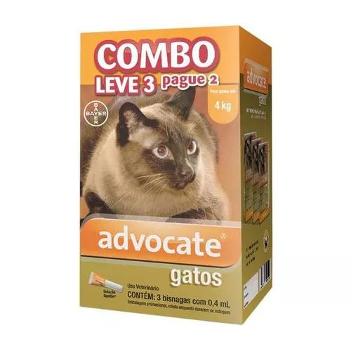 Antipulgas advocate combo para gatos até 4kg - fev/2021