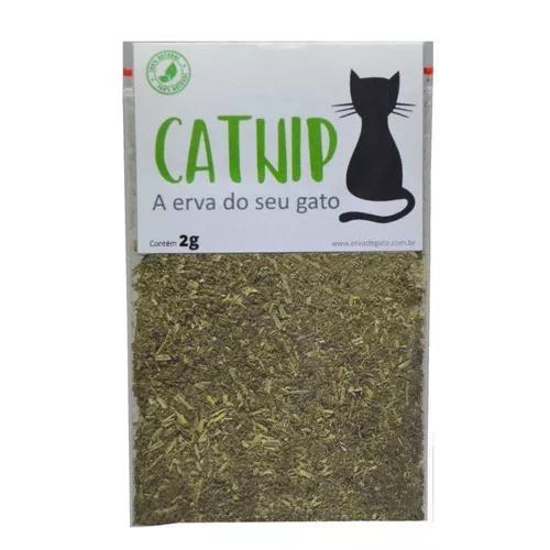 Catnip erva de gato pura e orgânica com frete grátis - 2g