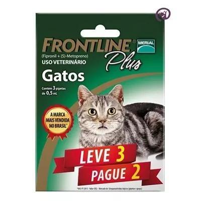 Combo frontline plus gatos merial 3 pipetas