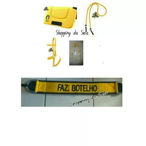 Kit amarelo de manta rédea cabresto cabeçada e peitoral