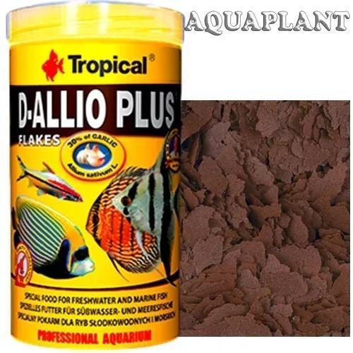 Ração para peixe tropical d-allio plus flakes 200gr