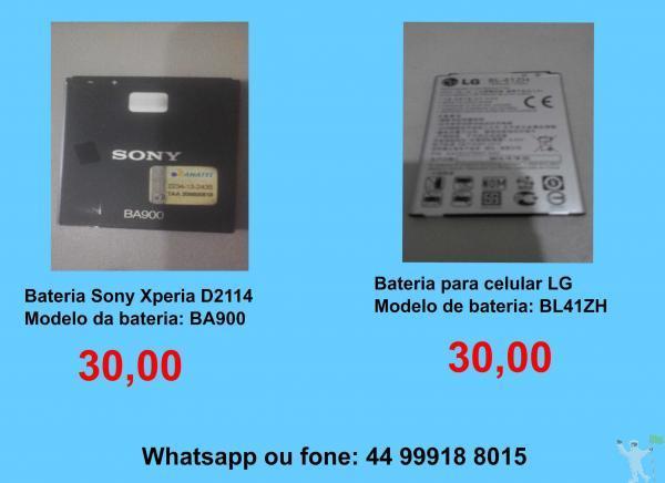 15,00 e 30,00 baterias sony – lg - tablet