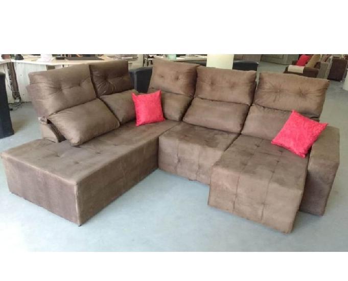 Sofá de canto retrátil e reclinavel
