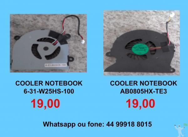 19,00 coolers de notebook